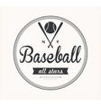 Baseball Label vector image