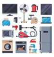 home appliances domestic household equipment vector image