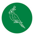 corella parrot icon in thin line style vector image