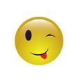 winking smiley face emoji icon vector image