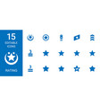 15 rating icons vector image vector image