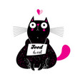 a lovely funny cat with a food vector image