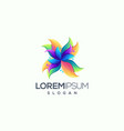 abstract flower logo design ready to use vector image vector image
