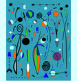 abstract light blue backgroundsurrealist painter vector image vector image
