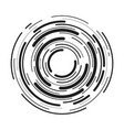 abstract radial background concentric ripple vector image