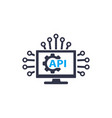 api and software integration icon on white vector image vector image