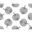 apple zentangle pattern for print or disign vector image vector image