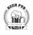beer pub isolated icon craft beer in mug with vector image vector image