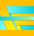 bright cyan and yellow abstract corporate vector image vector image