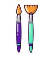 brush icon cartoon style vector image vector image