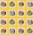 cartoon cake pattern vector image