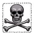 cartoon image of hazard warning attention sign vector image
