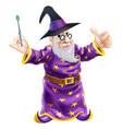 cartoon wizard vector image vector image