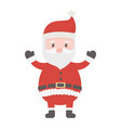 celebrating santa claus character merry christmas vector image