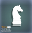 Chess knight icon On the blue-green abstract vector image vector image