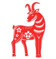 chinese horoscope sign astrology goat symbol vector image