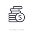 coins stack outline icon finances sign vector image