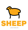 color stylized drawing of sheep or ram vector image vector image