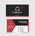 corporate double-sided business card template vector image vector image