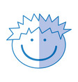 cute boy drawing icon vector image