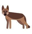 dog flat icon vector image vector image