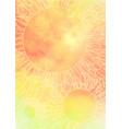 doodle sunflower mandala background for summer vector image