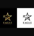 eagle star logo template vector image