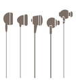 Earphones Silhouettes Icons vector image vector image