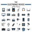 electronic device flat icon set technology vector image