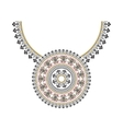 Ethnic necklace Embroidery for fashion vector image