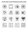 film production icon vector image