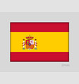 flag of spain national ensign aspect ratio 2 to 3 vector image