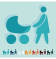 Flat design family vector image vector image