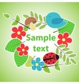 Green eco style banner for your design vector image vector image