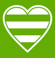 heart lgbt icon green vector image vector image