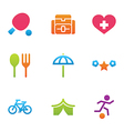 icon set activity and rest vector image vector image