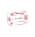 international visa to prague isolated vector image vector image
