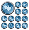 Love and dating buttons vector image vector image