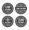 low or zero calorie product label set on white vector image vector image