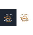 luxury yacht charters logo icon concept vector image