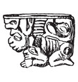mexican pipe bowl sketched in the american museum vector image vector image
