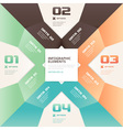 Modern origami style number options banner vector image