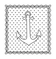 monochrome contour frame of anchor with background vector image vector image