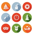 New Year and the Presidents address Icons Set vector image