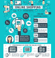 online shopping infographic internet store design vector image vector image