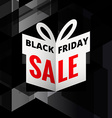 origami giftbox of black friday sale vector image vector image