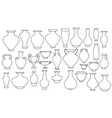 Outline vases and amphora collection vase pottery
