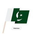 Pakistan Ribbon Waving Flag Isolated on White vector image vector image
