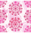 Pink seamless grunge valentine pattern vector image vector image