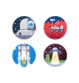 Pixel perfect space icons set vector image vector image